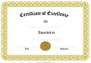 Personalized Certificate